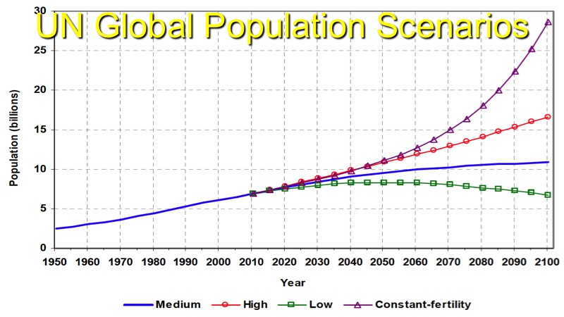 UN population graph to 2100