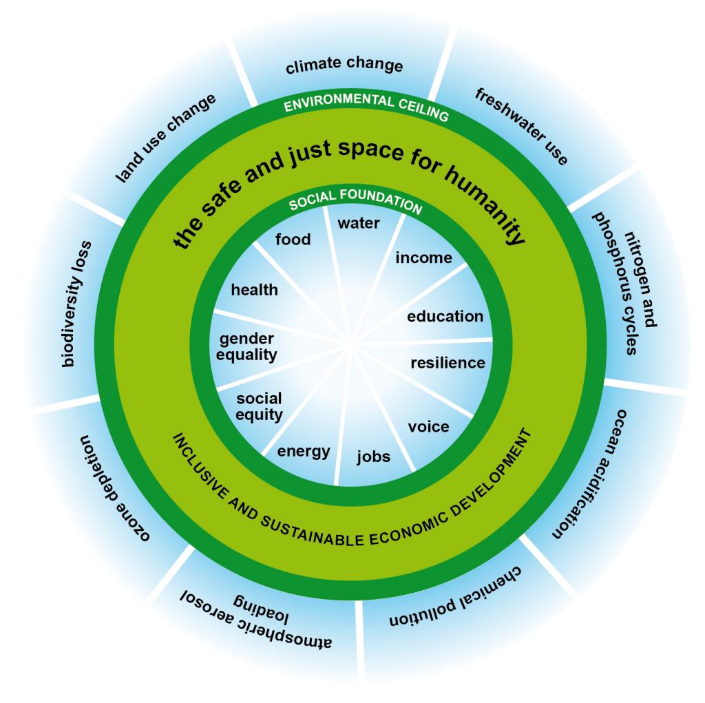 Doughnut economy model